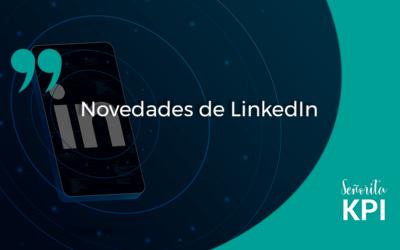 Novedades de LinkedIn
